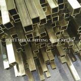 """3/4本の"""" X1-1/2 """" X1mmの懸命に引かれた長方形の装飾的な真鍮の管"""