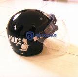 경찰 방어적인 반대로 난동 통제 헬멧