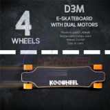 Skate elétrico de D3m Longboard Koowheel com de controle remoto
