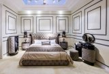 Mobília branca do quarto do couro genuíno (B005)