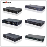 saicom (SCSWG2-1124PF) 광전자적인 신호 엇바꾸기를 위한 자동 mdix 싱글모드 섬유 24/26 지원 802.3af/at
