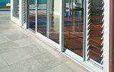 Раздвижная дверь двойной застеклять алюминиевая в сверхмощных системах
