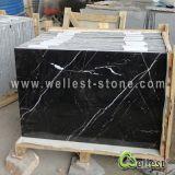 Tuiles de marbre noires normales de Nero Marquina Marquina pour l'étage/revêtement de plancher/mur