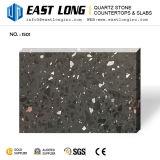 Surface solide Polished en pierre de pétillement en verre bon marché de quartz de couleur foncée pour Vanitytops/conçue