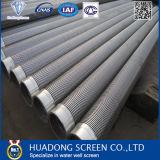 Pantalla del alambre de la cuña del acero inoxidable 304 / pantalla del alambre de la cuña para la perforación de pozo /