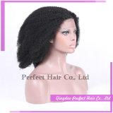 Парики Afro полных человеческих волос фронта шнурка естественные