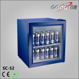 Refroidisseur de boisson, mini réfrigérateur de partie supérieure du comptoir avec la porte en verre (SC-52)