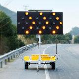 15의 25의 50의 램프 태양 LED 경고등 도로 교통 표지