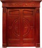 Porte en bois intérieure de bois de construction d'étoile arctique avec la qualité