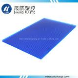 recouvrement creux de polycarbonate de couleur de bleu de 6mm pour le toit de construction