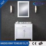 Het nieuwe Witte Stevige Houten vloer-zichBevindend Kabinet van de Ijdelheid van de Badkamers