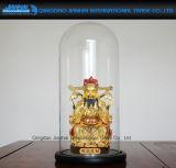 15*33cm 고대 시계, 인형 또는 전시 유리제 돔 및 대