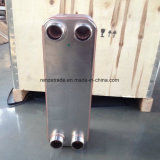 Échangeur de chaleur en plaques de cuivre et de cuivre pour l'industrie chimique Refroidissement de l'air à l'eau