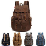 Saco de ombro feminino Men Canvas Backpack Travel Bags