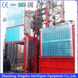Élévateur matériel de cage simple pour le passager et le matériau de levage de construction