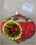 De ui Gestalte gegeven Ambachten van het Glas van Kerstmis voor de Decoratie van de Kerstboom