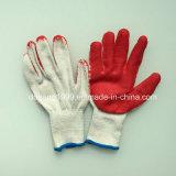 10 gants enduits de blanc cru de mesure défunts fonctionnant le latex de gants