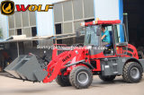 Carregador hidráulico traseiro da roda Zl16 com a cubeta do propagador da areia