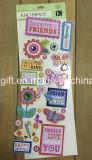Etiquetas engomadas adhesivas hechas a mano 3D de los adornos de Scrapbooking del arte de papel