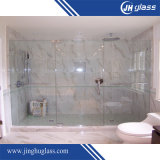 6-12mm de temperado / ácido Etch / Patterned Stainless Steel Sliding Glass Shower Door