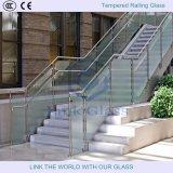 Barandilla de vidrio sin marco / barandilla de vidrio para balcón / piscina de cercado