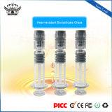 1.0ml/2.25ml/3.0ml 유리제 주사통 Luer 자물쇠 E 주스 충전물을 채우는 Cbd 기름 카트리지