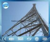 torre de la telecomunicación de los 70m, torre de acero del ángulo, torre del acero del tubo