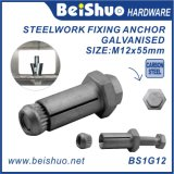 Tornillo de extensión M12 Boxbolt para el acero estructural