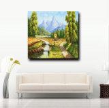 Оптовая Handmade картина маслом ландшафта на холстине, Handmade домашней картине украшения