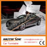 O auto móbil do carro revolve o auto sistema de giro da plataforma giratória, exposição que mostra a placa de giro do carro da tabela da volta da plataforma giratória do carro