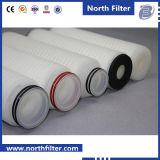 Elemento de filtro plissado Polypropylene da água de 5 mícrons