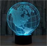 Luzes decorativas, luzes da noite do diodo emissor de luz do presente de aniversário, luzes 3dled