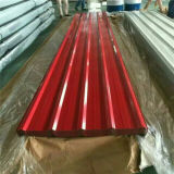 folha ondulada galvanizada material de construção da telhadura da chapa de aço de 0.125-0.8mm