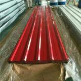 Folha ondulada de aço galvanizada Pre-Painted aço da telhadura do metal de Dx51d