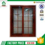 Окно деревянного цвета алюминиевое сползая