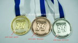 Медаль пожалования хода золотистого серебряного марафона изготовленный на заказ