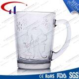 300ml gekennzeichnetes klar graviertes Glaswasser-Cup (CHM8178)
