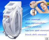 Ce keurde Verticale IPL+RF+Cavitation+ND YAG Laser 4 in 1 Machine goed