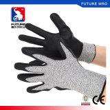 13gauge la palma de Gary Hppe del nivel 5 cubrió guantes resistentes cortados nitrilo negro de la espuma