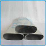 Tubos ovales inoxidables del plano de acero para la barandilla