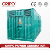 Comap Controller 또는 UK Deep Sea Control Panel Accept Heat Receovery Cogeneration Unit를 가진 CE&ISO Authorized Container Silent Type 500kw/600kVA Gas Generator