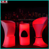 LED que enciende los muebles iluminados muebles al aire libre del PE de Polyethelene LED