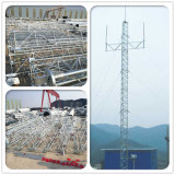 Type tour de télécommunication de Pôle d'usine de la Chine de Guyed de transmission en acier