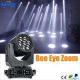 전문가 7X15W 4in1 소형 LED 이동하는 맨 위 급상승 세척 빛