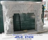 Het witte Graniet van de Stijl Grecism/Marmeren Open haarden