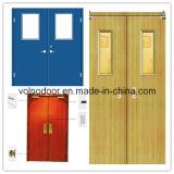 Porte évaluée en bois solide d'incendie ignifuge intérieur chaud de modèle avec la nomenclature Trada
