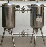 Filtro sanitário do duplex da bebida do aço inoxidável de produto comestível