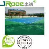 L'unità di elaborazione del silicone mette in mostra la superficie della corte per la corte di tennis