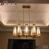 Candelabro de vidro branco decorativo de sete luzes do hotel moderno do vintage