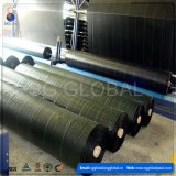 Malla de barrera de control de malas hierbas tejidas negras Cubierta de suelo en rollo